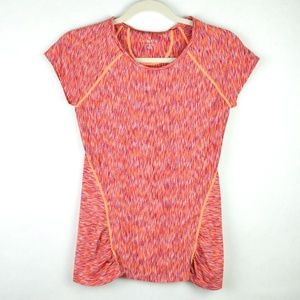 Athleta Pop Space Dye Tee Watermelon Orange - XXS